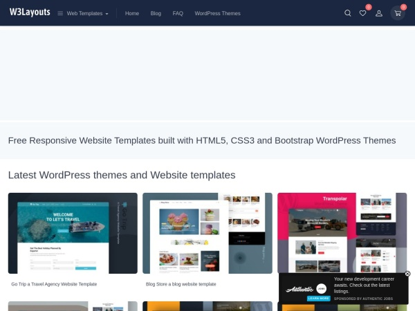 Free Responsive HTML5 CSS3 Website Templates