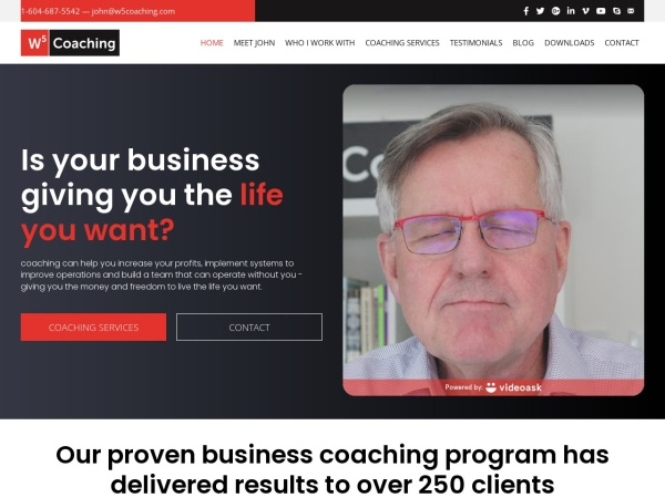 Screenshot of w5coaching.com
