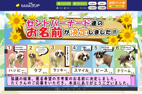 Screenshot of wanwan-land.co.jp