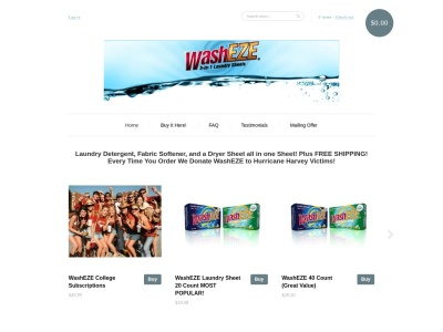 Screenshot of washeze.com