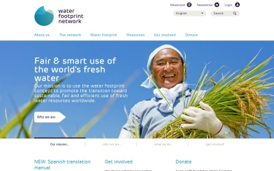 Screenshot of waterfootprint.org