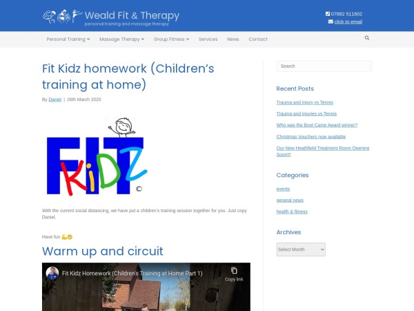 Screenshot of wealdfitandtherapy.co.uk