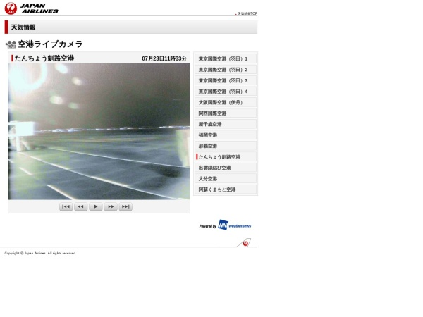 Screenshot of weather.jal.co.jp