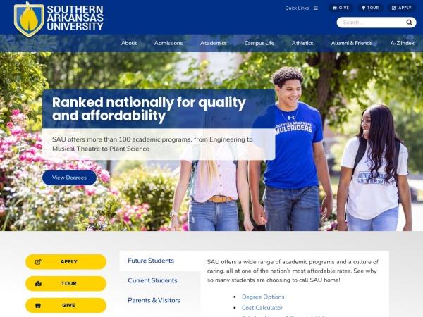 Screenshot of web.saumag.edu