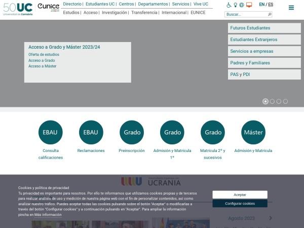 Screenshot of web.unican.es