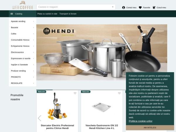 Screenshot of webcoffee.ro