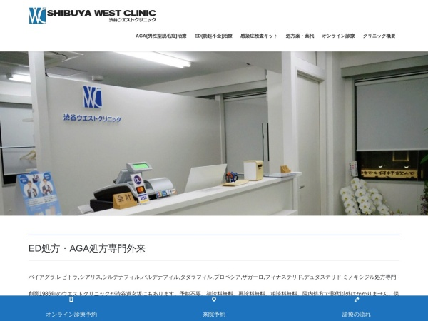 Screenshot of westclinic.tokyo