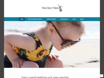 Screenshot of whatkatymakes.com