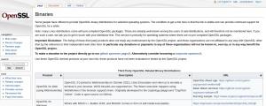 Screenshot of wiki.openssl.org