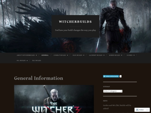 https://witcherbuilds.wordpress.com/general/