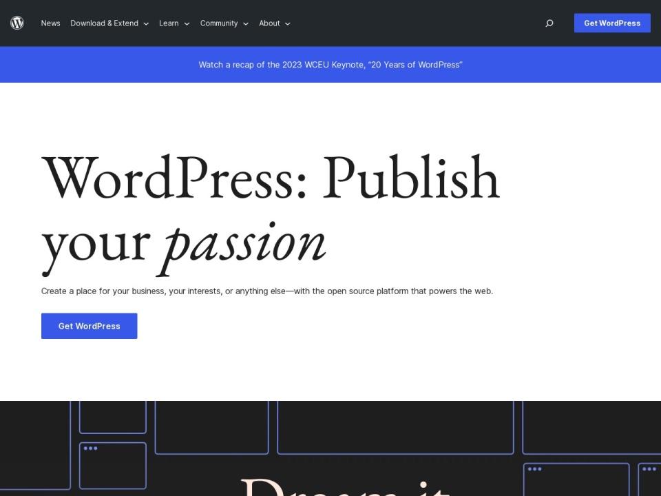 wordpress.org site image screenshot