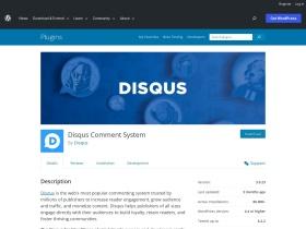 https://wordpress.org/plugins/Disqus-Comment-System/