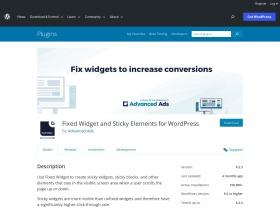 https://wordpress.org/plugins/Q2W3-Fixed-Widget/