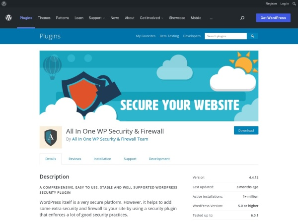 https://wordpress.org/plugins/all-in-one-wp-security-and-firewall/