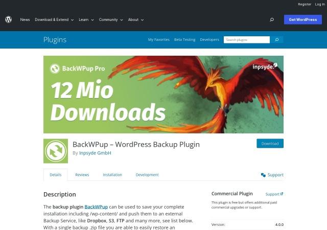 Screenshot of wordpress.org