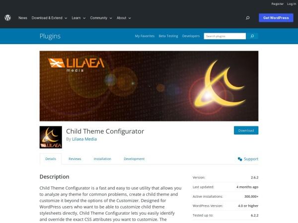 https://wordpress.org/plugins/child-theme-configurator/