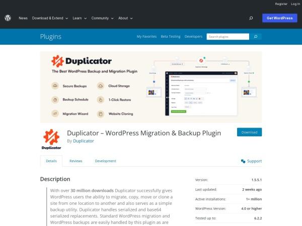 https://wordpress.org/plugins/duplicator/