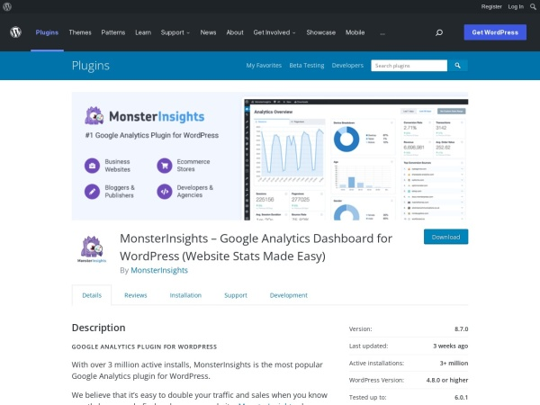 https://wordpress.org/plugins/google-analytics-for-wordpress/
