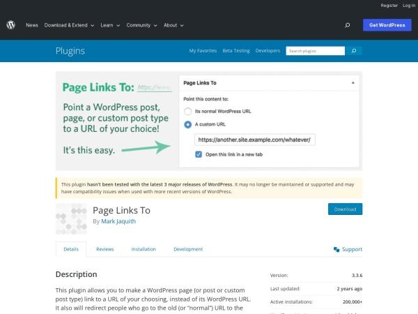 https://wordpress.org/plugins/page-links-to/