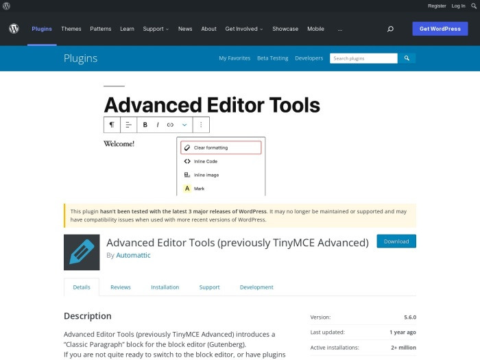 https://wordpress.org/plugins/tinymce-advanced/