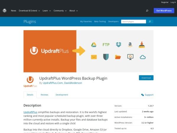 https://wordpress.org/plugins/updraftplus/
