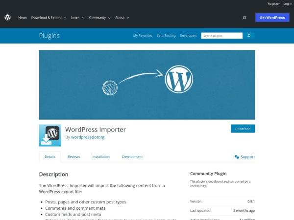 https://wordpress.org/plugins/wordpress-importer/