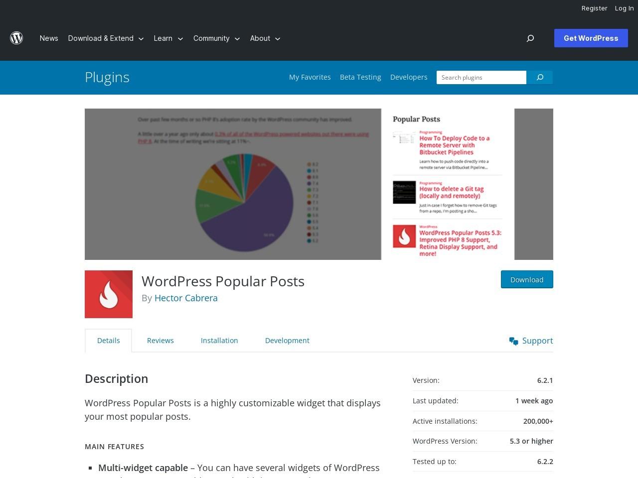 https://wordpress.org/plugins/wordpress-popular-posts/