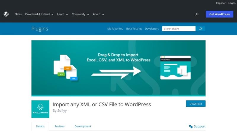 Screenshot von wordpress.org