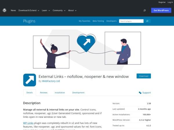 https://wordpress.org/plugins/wp-external-links/