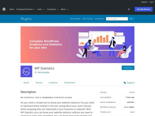 https://wordpress.org/plugins/wp-statistics/