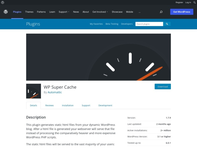 https://wordpress.org/plugins/wp-super-cache/