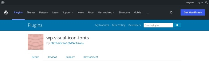 https://wordpress.org/plugins/wp-visual-icon-fonts/