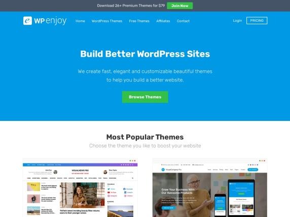 WPEnjoy homepage