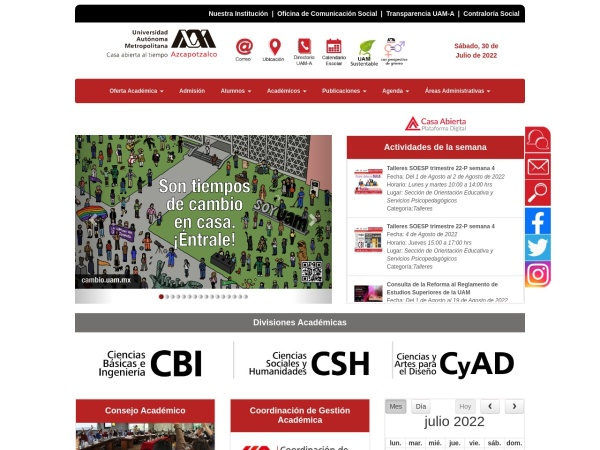 Screenshot of www-azc.uam.mx