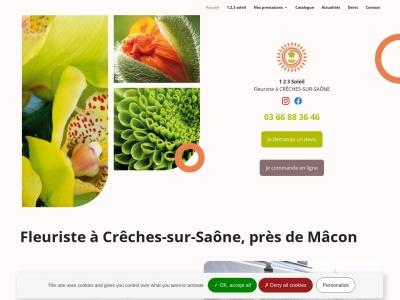 1 2 3 Soleil, la boutique de l'artisan-fleuriste Élodie RAMET à Crêches-sur-Saône