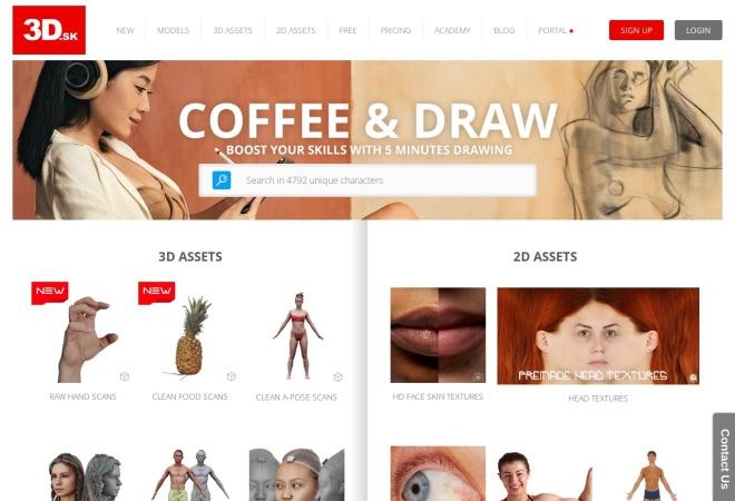 Screenshot of www.3d.sk