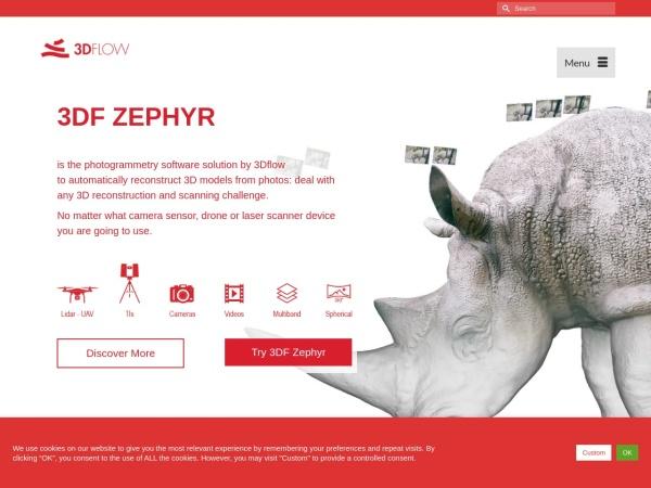 Screenshot of www.3dflow.net