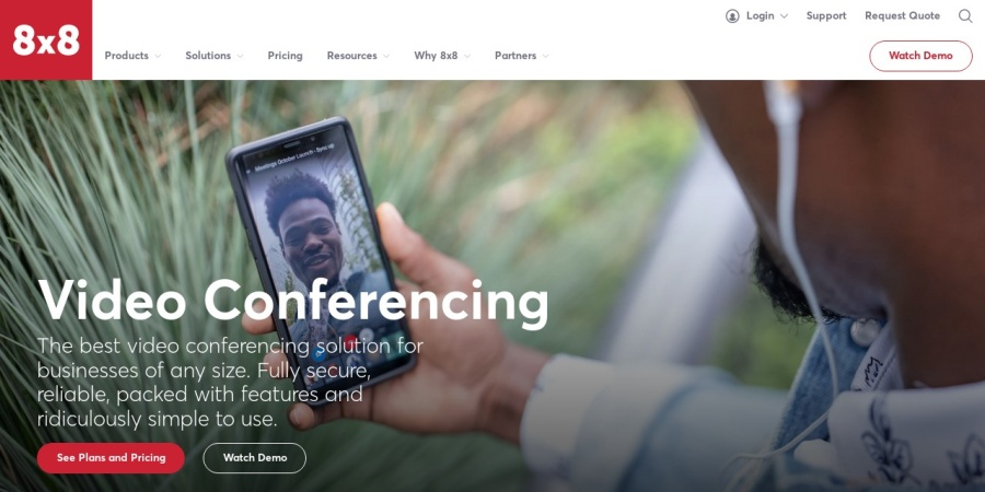 8x8 video conferencing service