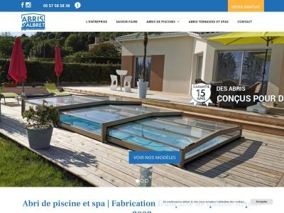 Abris d'Albret : concepteur et fabricant francais d'abris de piscine et d'abris de spa alliant qualité, esthétique, sécurité, durabilité et solidité