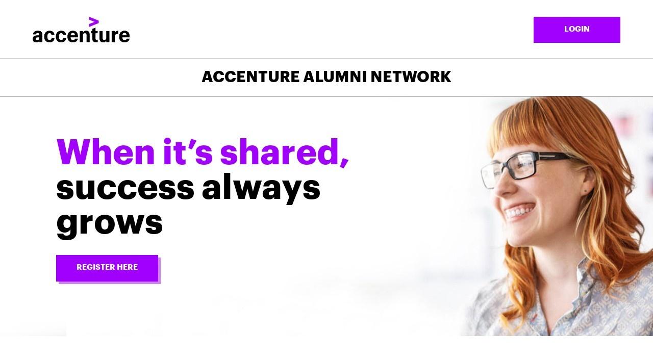Screenshot of www.accenturealumni.com