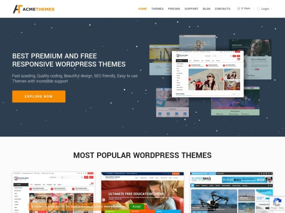 Acme  Themes homepage