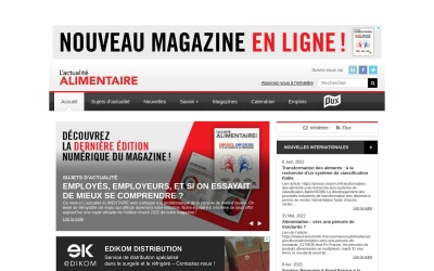 Screenshot of www.actualitealimentaire.com