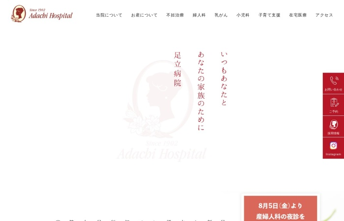 Screenshot of www.adachi-hospital.com