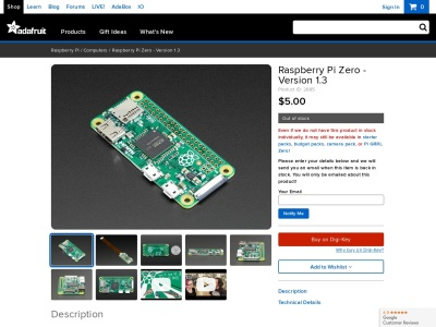 Screenshot of www.adafruit.com
