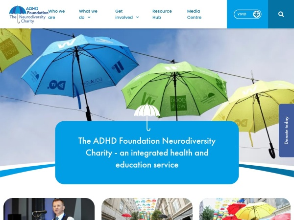 Screenshot of www.adhdfoundation.org.uk