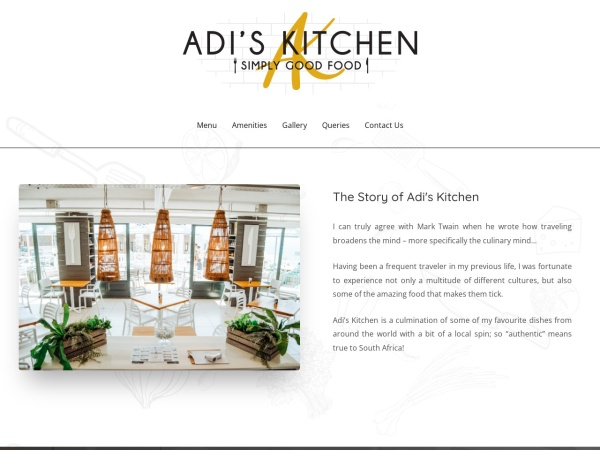 Screenshot of www.adiskitchen.co.za