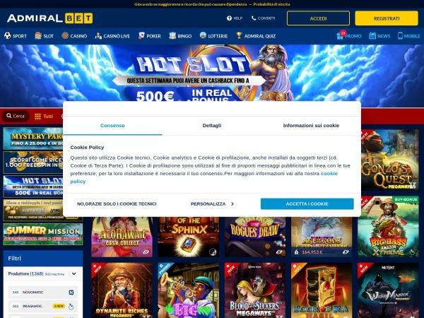 Screenshot of www.admiralyes.it