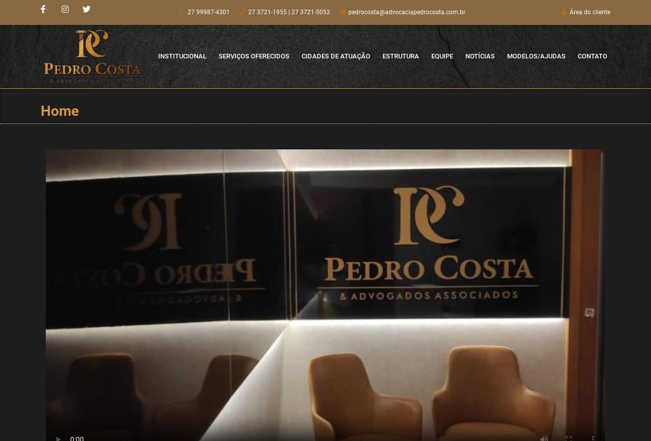 Screenshot of www.advocaciapedrocosta.com.br