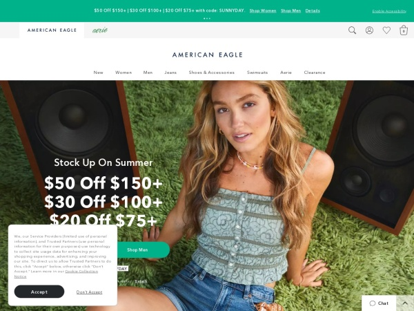 Screenshot of www.ae.com
