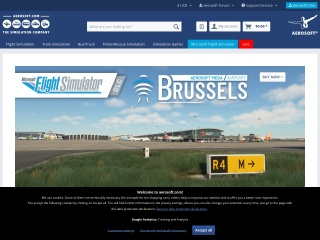 Screenshot of www.aerosoft.com